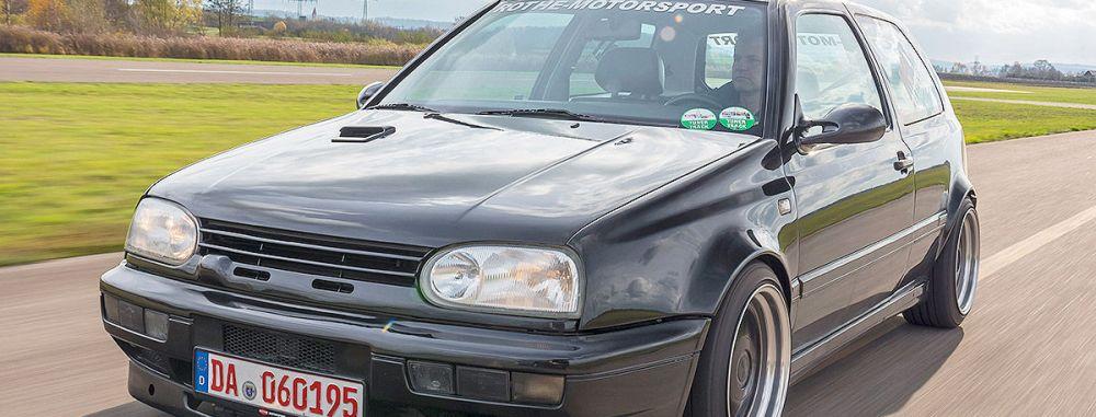 Old-School vom Feinsten !!! VW Golf 3 VR6 Turbo. Der Don-Turbo beeindruckt noch heute...